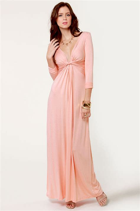 Longdress Maxy Dress Pink Dress Maxi Dress Sleeve Dress 40 00