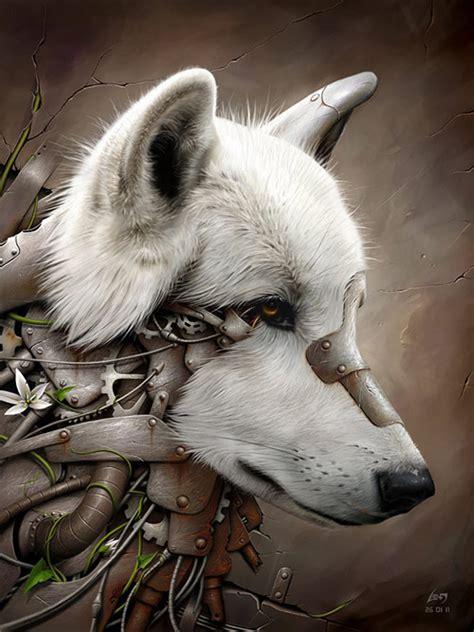 biomechanical wolf tattoo biomechanical animals the wolf