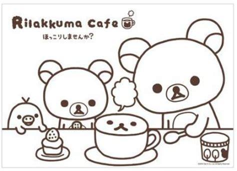 free printable rilakkuma coloring page cute 183 kawaii