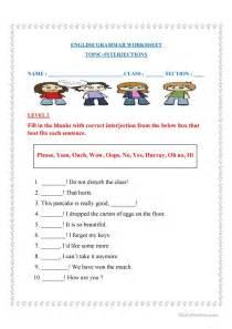 interjections worksheets worksheet amp workbook site