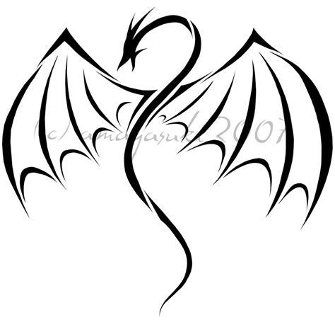 simple dragon tattoo designs by amayasuki on deviantart