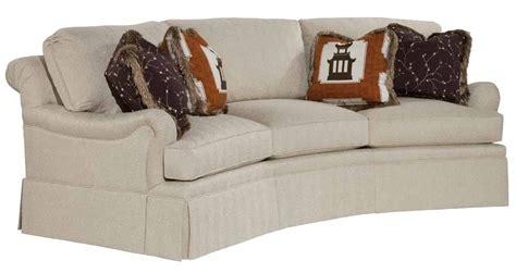 traditional curved sofa kincaid furniture jackson 555 86 traditional curved sofa