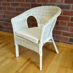 rattan bedroom chair with natural cushion pearl