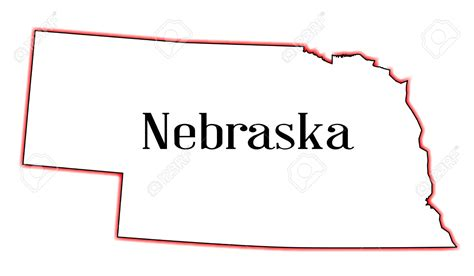 nebraska colors nebraska clipart nebraska outline pencil and in color