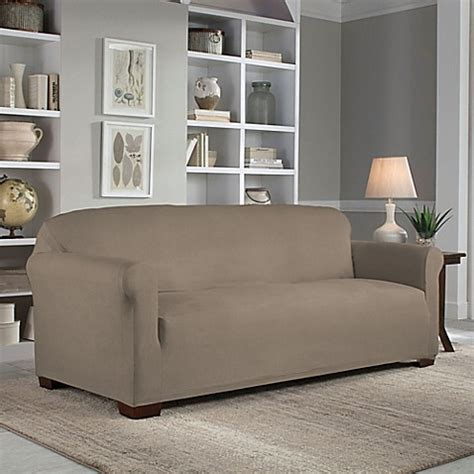 perfect fit slipcovers perfect fit 174 reversible sofa slipcover bed bath beyond