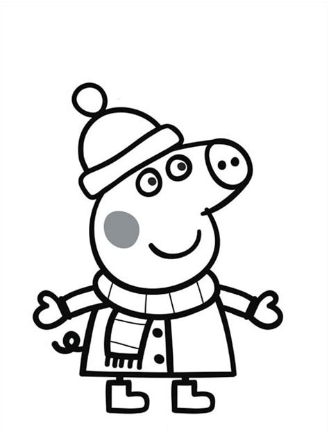 peppa pig winter coloring pages free coloring pages of peppa pig fairy