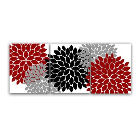 red bathroom wall decor digital bathroom wall art set of 3 modern bath art in red