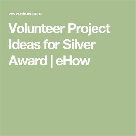 volunteer project 33 best images about gs silver award on pinterest