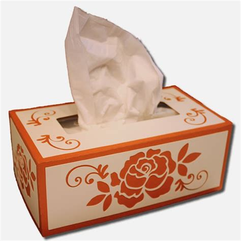 Box Tissue Flower 3d bits of paper rectangle tissue boxes
