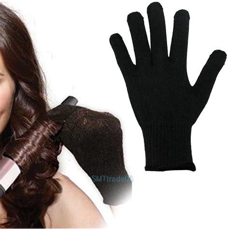 Hair Dryer Glove heat resistant blocking glove for hair curling flat iron hair styling tool black ebay