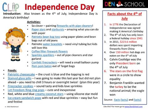 Activities And Societies In Mba by 4th Of July Independence Day And Educational