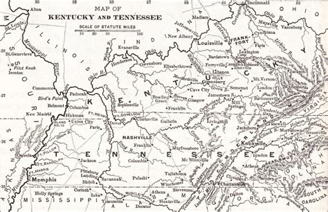kentucky map civil war union forces take forts henry and donelson in tennessee