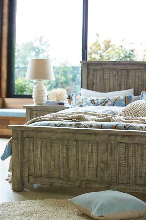 miami bed frame natural bedroom furniture forty winks gallery bed frame rustic grey wash bedroom furniture