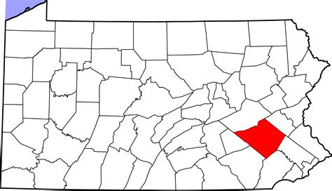 Berks County Property Records File Map Of Pennsylvania Highlighting Berks County Svg