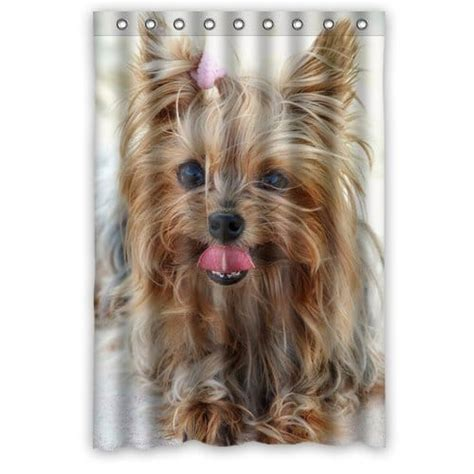 new arrival bathroom product printed new arrival polyester bath curtains waterproof printed pet terrier shower