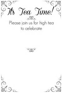 High Tea Invitation Template by Tea Invitation Template Gangcraft Net
