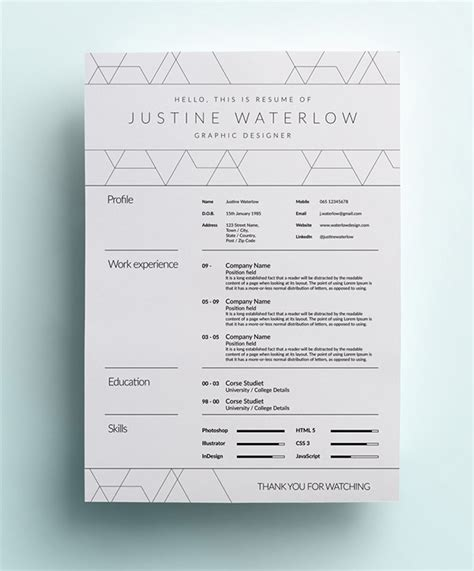love this resume white space 26 best graphic design resume tips with exles
