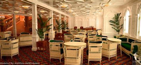 titanic 1st class dining room 1st class reception room on d deck just outside the main