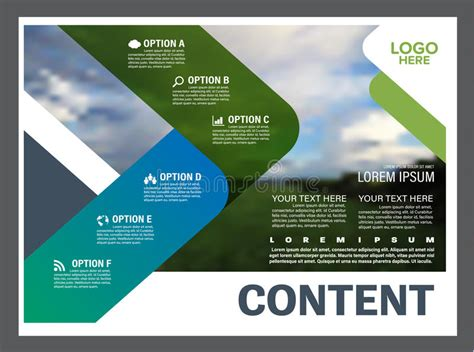 landscape report layout greenery presentation layout design template annual