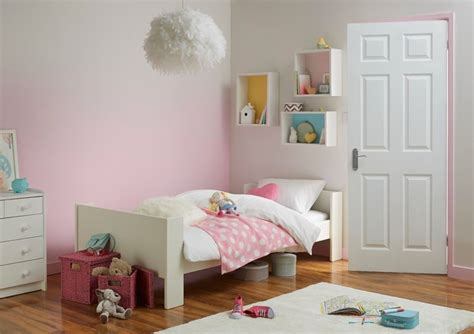 Bedroom B And Q Pink Bedroom Ombre Paint Effect Contemporary