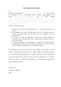 Declaraci 243 n jurada para tesis 2013