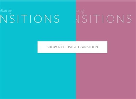 awesome page transition effects with jquery and css3