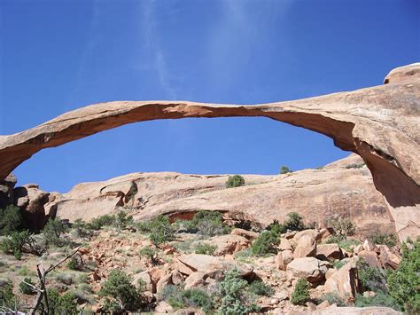 Landscape Arch Size File Landscape Arch Arches National Park Jpg Wikimedia