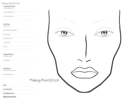 makeup template blank eye template for makeup www imgkid the image