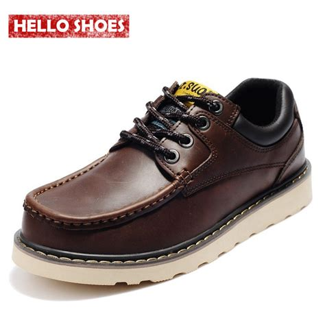 genuine leather shoes fashion casual flats mens