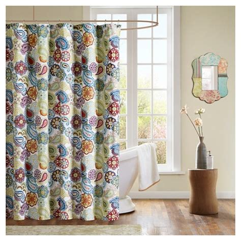 target paisley shower curtain tula paisley print microfiber shower curtain m target