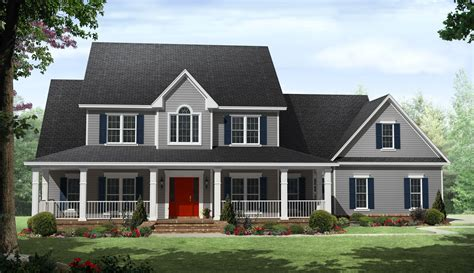 2 Story Farmhouse Plans 100 Two Story House Plans With Front Porch 10 Best Builder Luxamcc