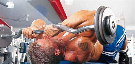 ez bar lying triceps extension exercise bodybuilding wizard