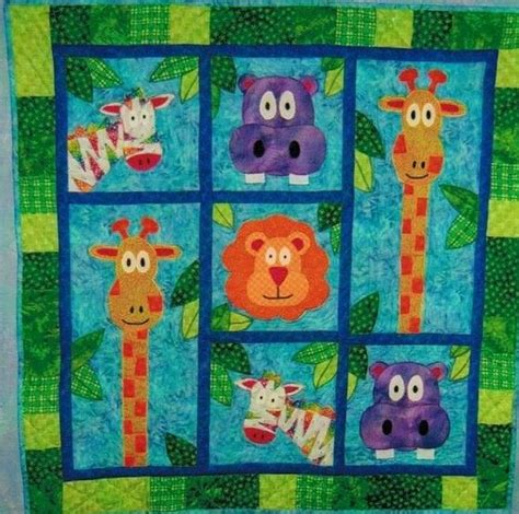 Animal Patchwork Quilt Patterns - reserved for s jungle quilt pattern