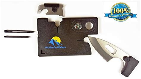 Carzor Credit Card Multi Tools With Tactical Knife Compass Etc credit card multitool survival knife multi purpose tool 10