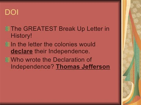 up letter based on the declaration of independence american revolution review
