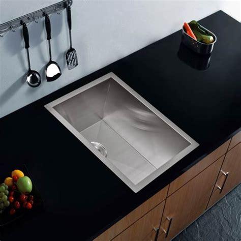 10 Wide Bar Sink premium scratch resistant satin 15 inch zero radius