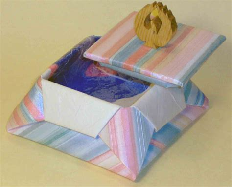 Origami Box With Attached Lid - origami box with lid printable choice image
