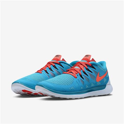 nike mens free 5 0 running shoes blue lagoon bright