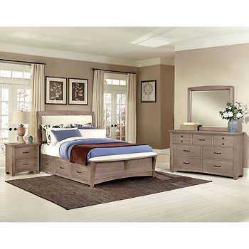 costco caprice 5 piece king bedroom set furniture chamber dual storage 5 piece king bedroom set