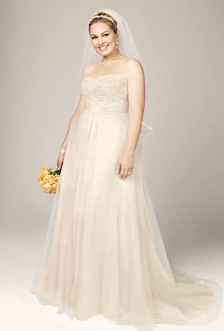 Plus Size Wedding Gowns Davids Bridal   Formal Dresses