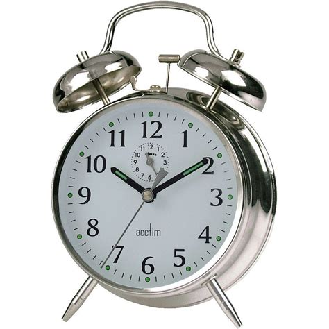 saxon wind  twin bell alarm clock cm