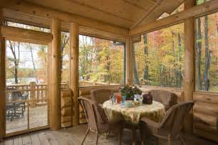 Log Home Photos Sunrooms, Lofts & Office Expedition