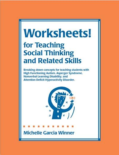 thinksheets for teaching social thinking and related