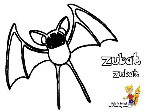 pokemon zubat coloring pages the gallery for gt zubat coloring pages