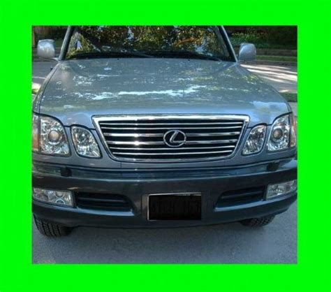 Grill Racing 2000 2001 2002 2003 1998 2007 lexus lx470 chrome grill grille kit 1999 2000 2001 2002 2003 2004 2005 2006 98 99 00