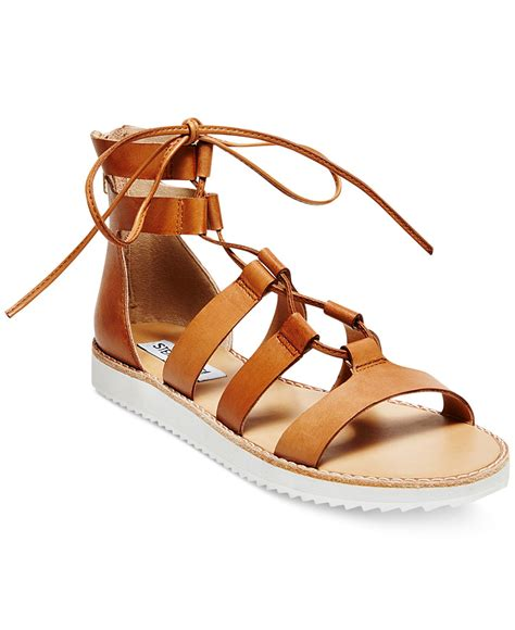 gladiator sandals lace up steve madden s marvell lace up gladiator sandals in