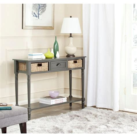 Safavieh American Home Collection Simpli Home Kitchener Collection Console Table In Walnut
