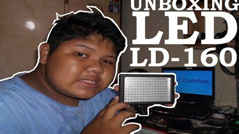 Lightning Kamera 160 Led Ld 160 unboxing led lightning ld 160 lighting terang bener