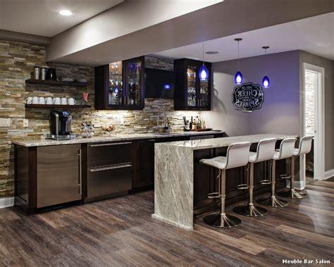 Kitchen Backsplash Ideas With Oak Cabinets by Meuble Bar Salon With Classique Bar De Salon D 233 Coration
