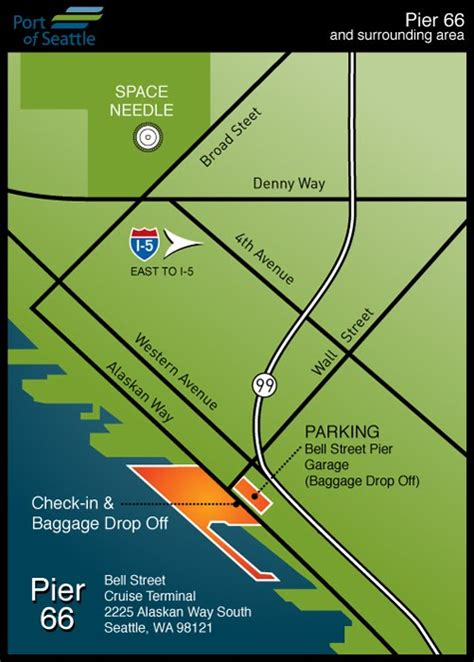 Seattle Cruise Port Car Rental by Facility Maps Cruise Terminals Of America